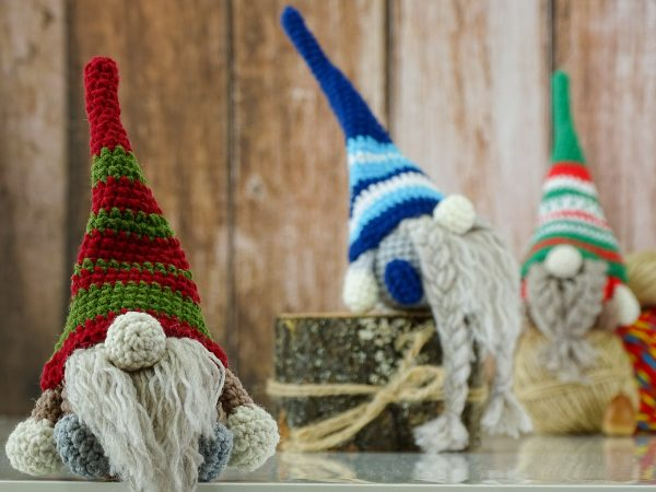 little gnomes with cute hats