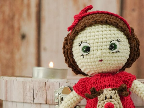 """christmas """"flower""""doll with green eyes"""