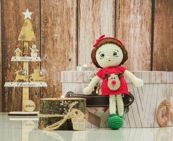 "christmas ""flower""doll with deer dress"