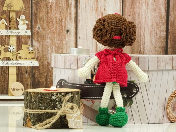 """red christmas """"flower""""doll hairstyle"""