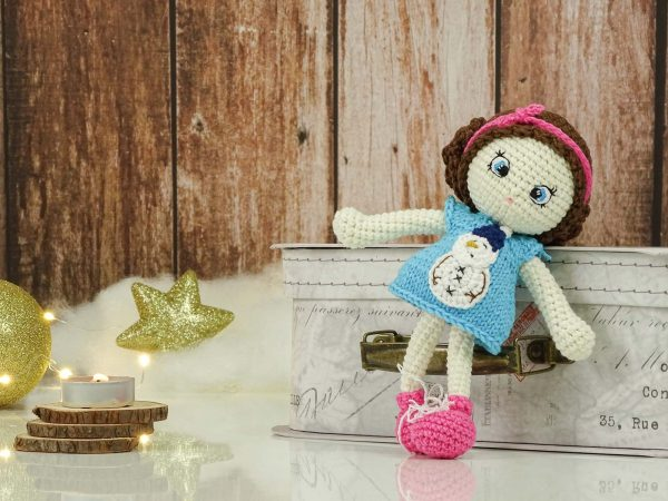 """christmas """"flower""""doll with changable snowman drress"""