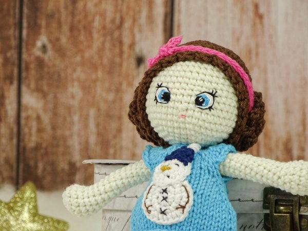 """christmas """"flower""""doll with blue eyes"""