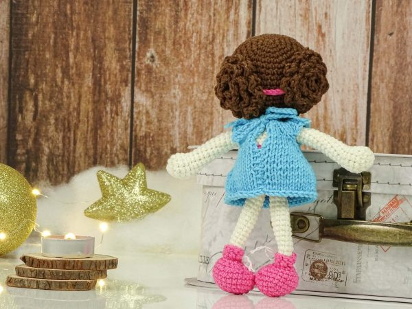 """blue christmas """"flower""""doll hairstyle"""