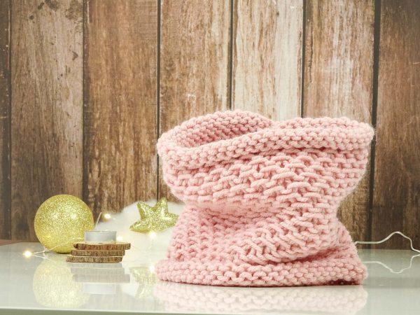 """Collar"" scarf pink"