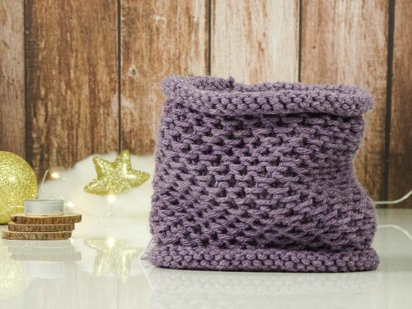 """Collar"" scarf purple"
